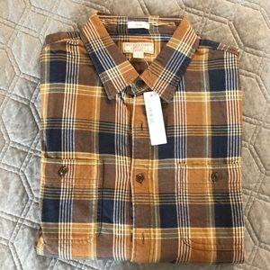 NWT J Crew Flannel Size L Slim